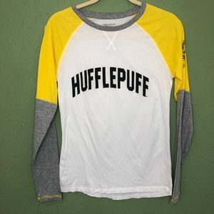 Harry Potter Hufflepuff Baseball Tee Size M